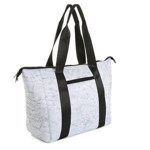 Mytagalongs Marble Gray Neoprene Weekend Tote Bag